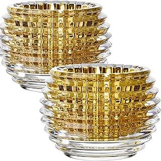 Baccarat Crystal Eye Votive Candle Holder - Gold - Set of 2