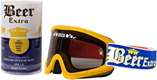 Beer Optics Cerveza Limited Edition Dry Beer Goggles Adult Motocross Motorcycle Goggles Eyewear - Liquid Yellow / One Size Fits All