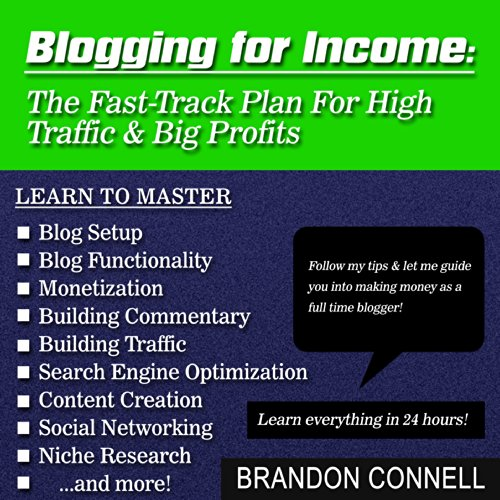 Blogging for Income audiobook cover art