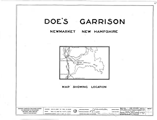 Historic Pictoric Blueprint Diagram HABS NH,8-NEWM,1- (Sheet 0 of 23) - Doe Garrison, Lamprey River & Great Bay, Newmarket, Rockingham County, NH 24in x 18in