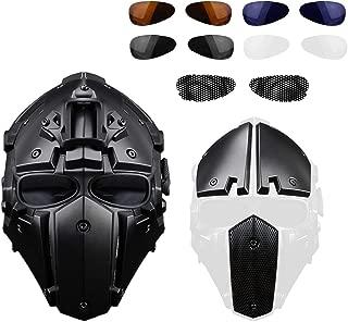 Anself Motorcycle Helmet Full Face Bicycle Tactical Helmets Black