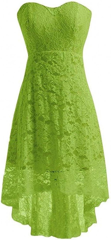 AK Beauty Women's Strapless Lace Short Evening Prom Dresses
