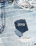 DENIM: 8.5x11 notebook DENIM JEANS groovy book for DENIM HEADS
