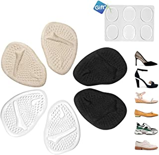 Metatarsal Pads - Ball of Foot Cushions for Women, 4D Design Comfortable Foot Pads for Pain Relief, Absorb Sweat, Fits All Shoes