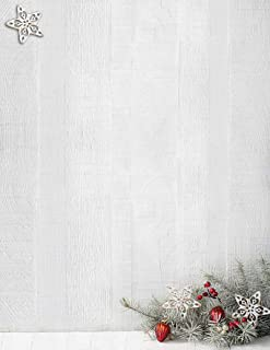 Woodsy Pine Christmas / Holiday Letterhead - 80 Sheets