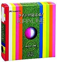 キャスコ(Kasco) ゴルフボール KIRA  LINE 6個入り(2個パック×3) ピンク/ホワイト