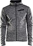 Craft Hombre Eaze Jersey Hood JKT M–Chaqueta con Capucha, Primavera/Verano, Hombre, Color Black Melange, tamaño Extra-Large
