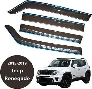 D/éflecteurs dair Lot de 4/pi/èces Autoclover pour Jeep Renegade 2014/ Fum/é