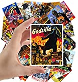 Large Stickers (24 pcs 2.5'x3.5') Godzilla Vintage Movie Poster Kaiju Horror Monster