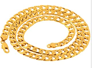 18K Gold Plated Necklace Fashion 20 inch Jewelry Chain Necklaces for Men