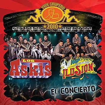 Vive Grupero El Concierto: Los Askis / Aarón Y Su Grupo Ilusión (En Vivo México D.F. / 2010)