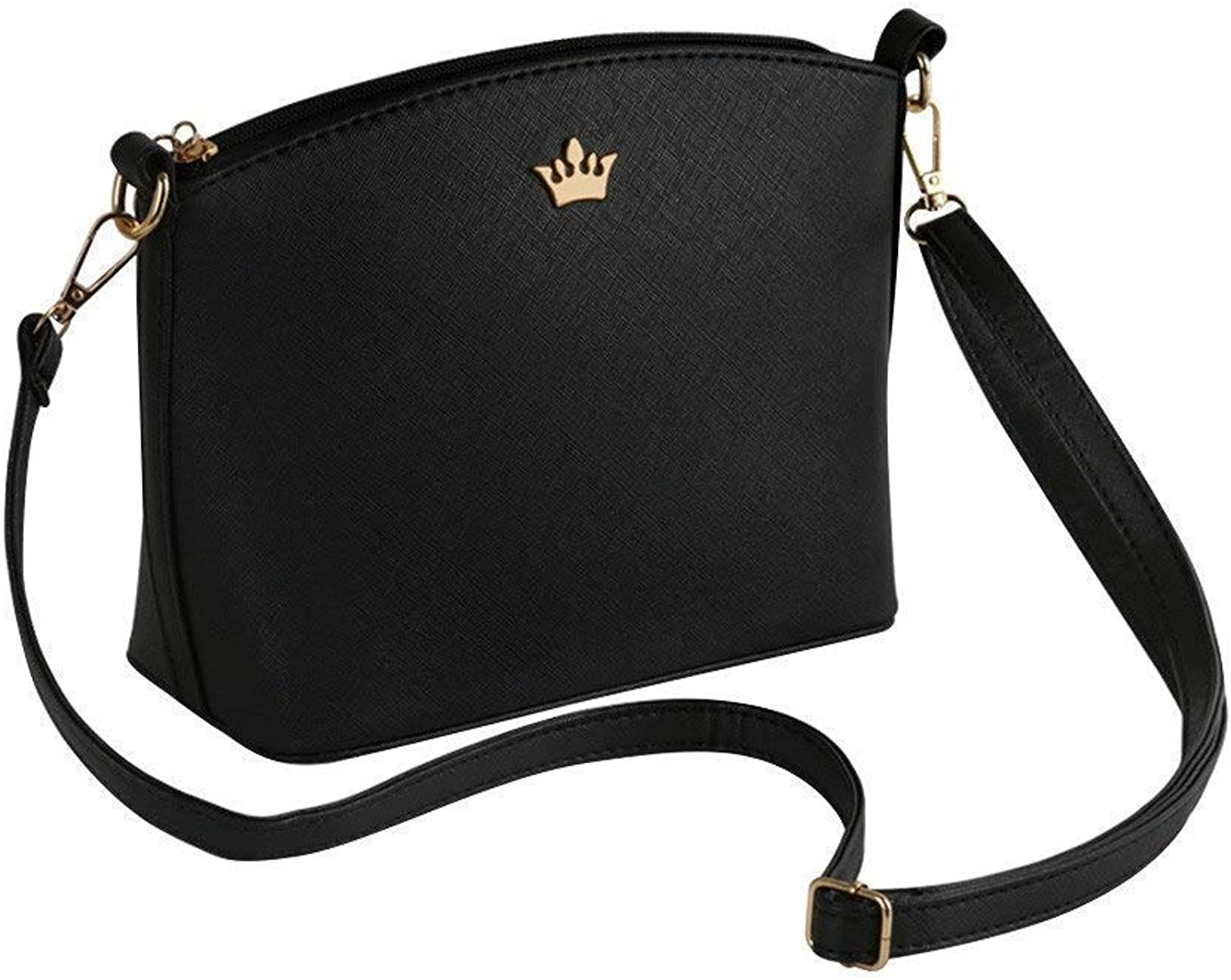 Bloomerang CONEED Small Imperial Crown Candy color Handbags Clutches Ladies Party Purse Women Crossbody Shoulder Messenger bagsd20w30x color Black