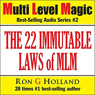 Page de couverture de The 22 Immutable Laws of MLM: Shattering the Myths - Multi Level Magic book two