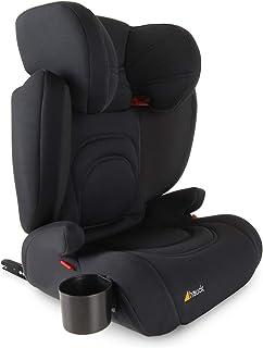 Hauck Bodyguard Pro - Sillas de coche Grupo 2/3 para niños de 3 a 12 años (15-36kg), con portavasos, ligero, ajustable, textil elástico transpirable, negro