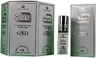 Silver - 6ml (.2oz) Roll-on Perfume Oil by AlRehab (Box of 6)