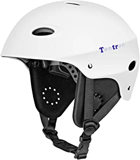 Tontron Adult Watersports Skateboard Bike Outdoor Helmet with Ears Protective Pads