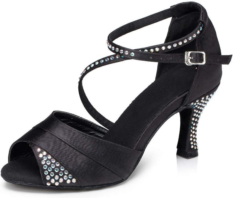 Dancing Shoes [Alternative dealer] Women's Standard Crystals Weddin Latin Dance Surprise price