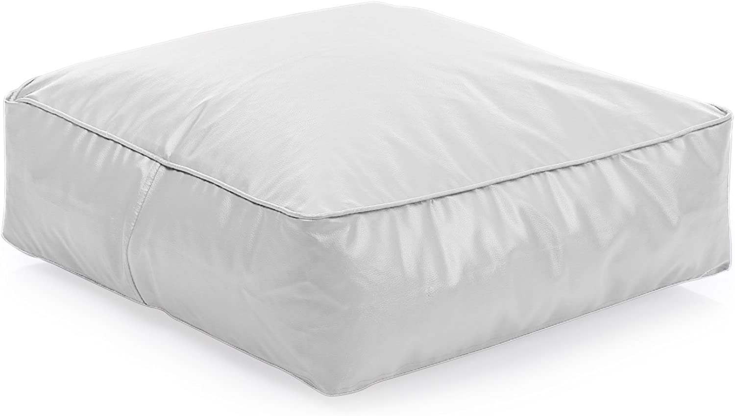 Style Homez Classic Square Floor Cushion L size Elegant White color Cover Only
