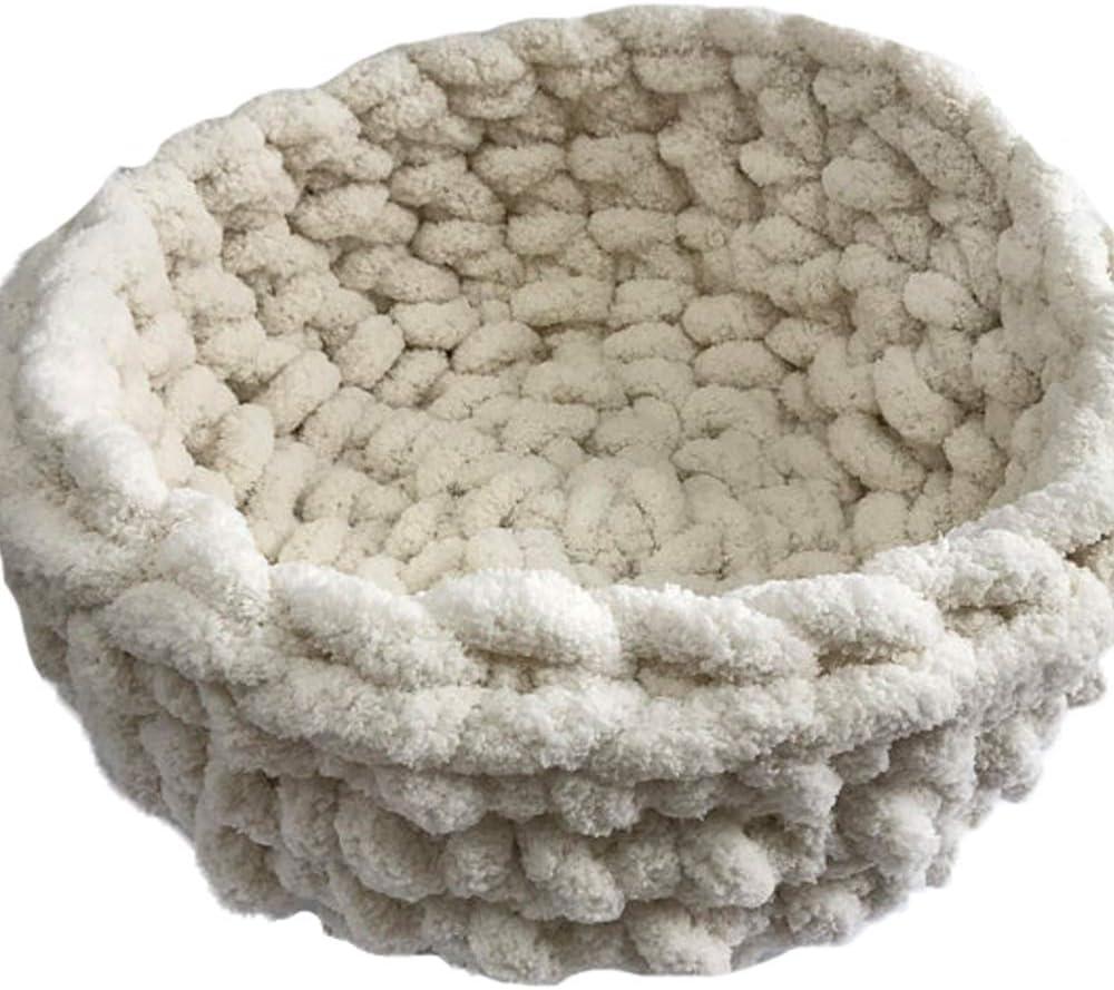 Chunky Chenille Cat Bed Cat furniture Cat Bedding Cat bed Chenille yarn Pet bed Vegan Yarn Pet bed Bulky vegan yarn cat bed Cat Cave