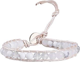 KELITCH Agate Crystal Gemstone Beads Handmade Bracelet Jewelry