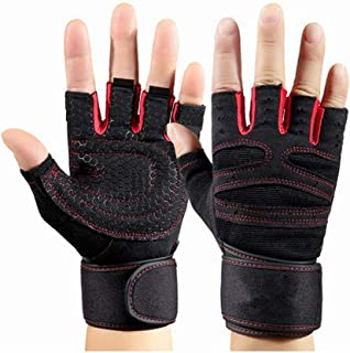 """GOCART WITH G LOGO Weightlifting Gloves with 12"""" Wrist Wrap Support for Gym, Power Lifting, Workout, Weightlifting, Cross ..."""