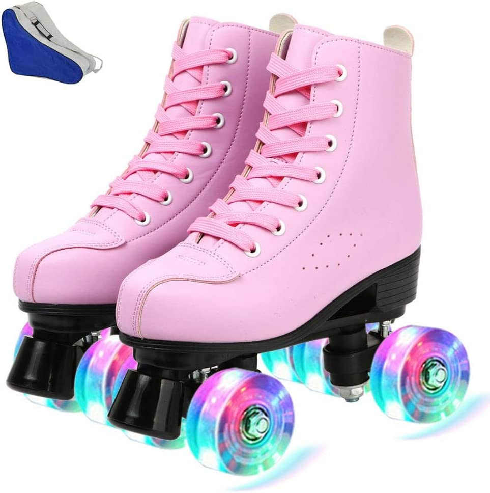 Women Roller Skates PU High-top Four-Wheel Ranking TOP9 Regular dealer Leather