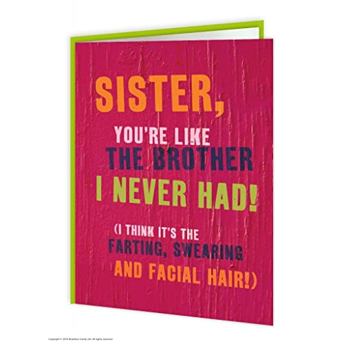 Sister Like A Brother Greeting Card