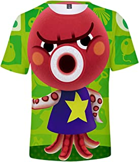 Silver Basic Camiseta de Animal Crossing para Hombres y Niños Camiseta de Manga Corta de Verano Camiseta Casual de Moda pa...
