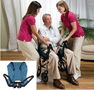 Aide Transfer Lift Sling,Two-Person Wheelchair Mobility Transfer System with Heavy Duty Belts,Nursing Aid for Transfers, Secure & Safe Lift for Elderly,Bedridden,Disabled