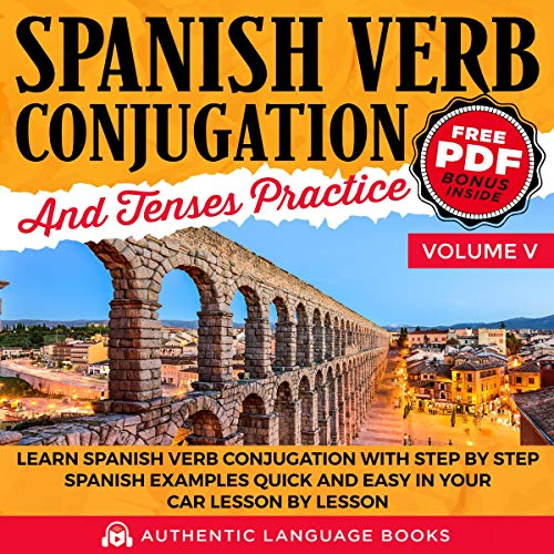 Page de couverture de Spanish Verb Conjugation and Tenses Practice Volume V