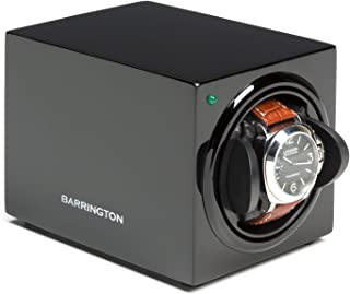 Automatic Watch Winder for 1 Watch - Compact, Quality, Single Watch Winder Box, Super Quiet Motor, Battery Powered and AC Adapter - Barrington, The Home of Stylish Watch Winders