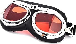 Multiware Lunettes De Moto Aviator Windproof Sun Uv Vent Protect Pilote Lunettes Aviateur Lunettes De Motocross Cruisers Casque De Moto V/élo