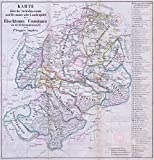Large Posters MAP Antique ANON 1871 Diocese Konstanz