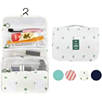 Anrui Large Waterproof Cosmetic Organizer Makeup Pouch with Sturdy Hook