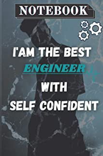 I'm the best engineer with self confident personal notebook: Personal notebook for a engineer who look for a notebook to t...