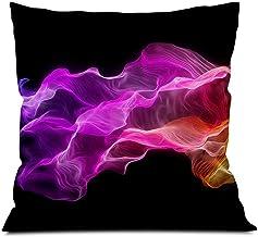 EGOTOU Colorful Silk Square Soft Cloth Throw Pillows,Sofa Pillow Waist Pillow (18x18 inch)