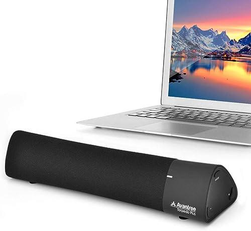 Avantree aptX Low Latency Laptop Speakers, DSP Superb Sound, Wireless BT4.2 Portable Home Stereo Speaker, Super Bass ...
