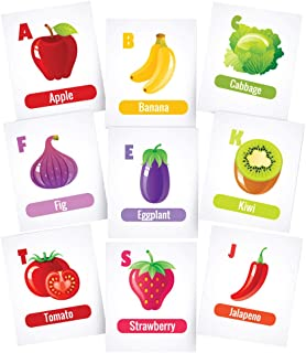 Twinkle Hands Vegetables and fruits alphabet Flashcards