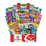 Care Package Snacks for College Students, Finals, Office, Fathers Day, Deployment, Military and Gift Ideas - Including Over 3 lbs of Chips, Cookies and Candy! (40 Count)