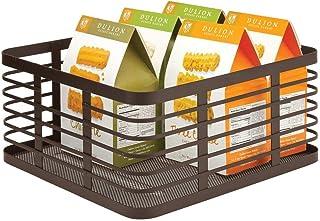 mDesign panier en métal polyvalent – panier de rangement pratique pour la cuisine et le reste de la maison – corbeille de ...