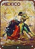 México Matador clásico nostálgico arte retro pintura de hojalata letrero de metal decoración de pared regalo perfecto para colgar 7.8X11.8 pulgadas