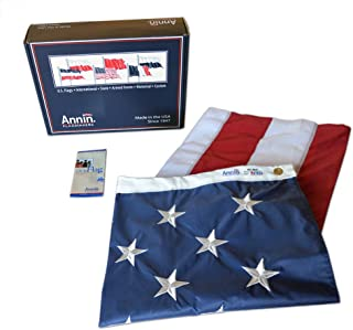 Annin Flagmakers Model 2300 American Flag Nylon SolarGuard NYL-Glo, 6 by 10 Foot, 100% Made in USA with Sewn Stripes, Embroidered Stars and Brass Grommets