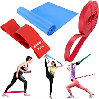 KAHIOE 3PCS/Pack Rubber Resistance Elastic Bands for Fitness Yoga Strength Exercise Gym Training