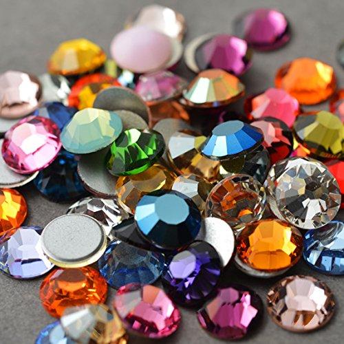 SWAROVSKI 24 Rhinestones Crystal Flatback Mix 34ss