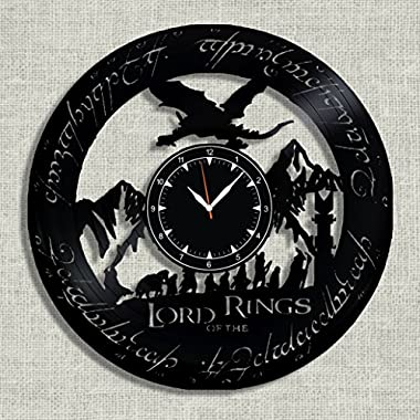 Lord of The Rings Vinyl Clock - Lord of The Rings Wall Clock - Best Gift for Fans Lord of The Rings - Original Wall Home Decor