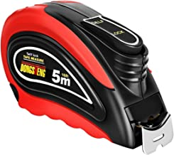 Tape Measure, 16ft Retractable Measuring Tape Ruler with Self-Lock System & Shock-Absorbent Solid Rubber Case