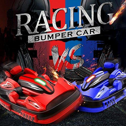 Kanzd Remote Control RC Bumper Cars RC Toy Game 2 Radio Control Vehicles (Multicolor)