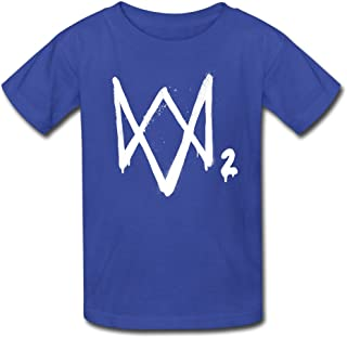 Watch Dogs 2 Logo2 Youth Retro Pre-Cotton Short Sleeve T-Shirt