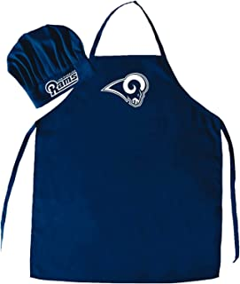 PSG, NFL Los Angeles Rams Apron and Chef Hat Set, One Size, Navy