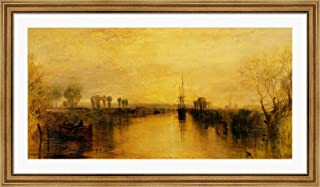 Chichester Canal, c.1829 by J.M.W. Turner Framed Art Print Wall Picture, Wide Gold Frame, 48 x 28 inches
